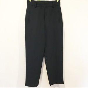 Aritzia Wilfred Black Cropped Ankle Pants Slacks 4